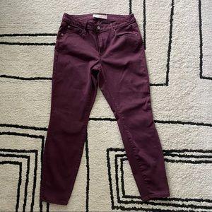 GAP 1969 Burgundy Curvy True Skinny Jeans